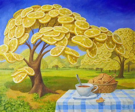 surrealist art world of world full of lemons by surrealist painter vitaly urzhumov bored panda
