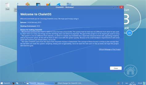 tampilan chalet os distro linux mirip windows  indah