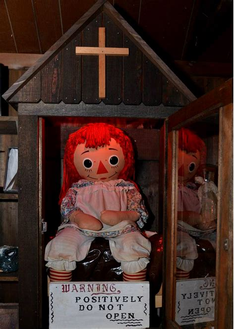 annabelle doll in museum the real annabelle doll in the warren s occult museum in