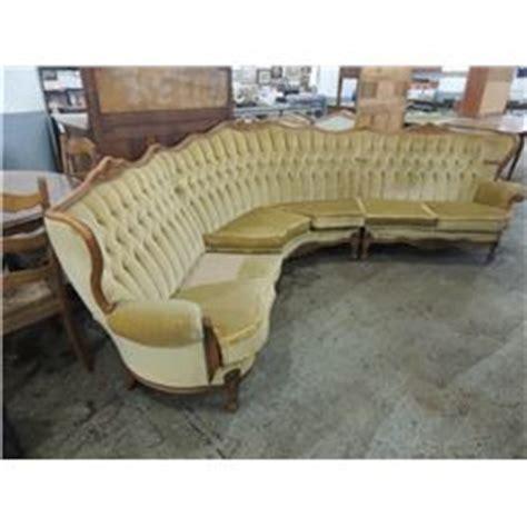 half moon shaped sofa huge antique half moon shaped sofa couch 3 piece