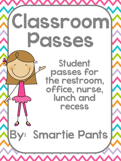 student bathroom passes smartie pants student passes freebie