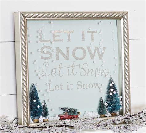 let it snow shadow box snow globe