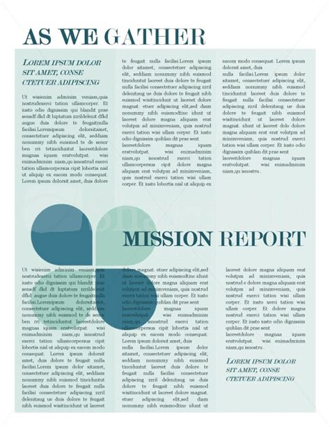 mission update newsletter template template newsletter