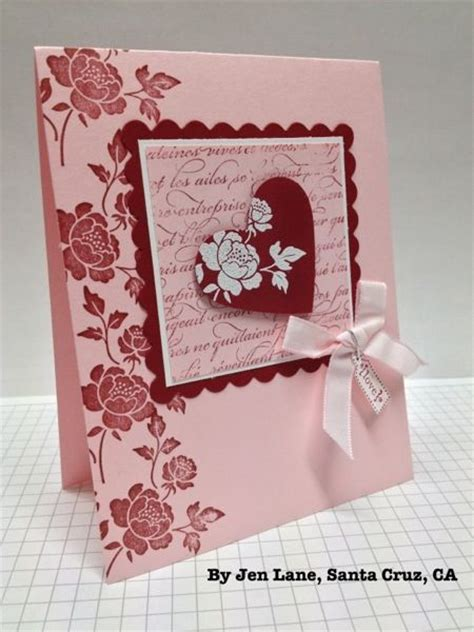 Handmade Valentines - handmade card showcased on stwithbrian