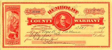 Nevada County Warrant Search Humboldt County Warrant Nevada 1919