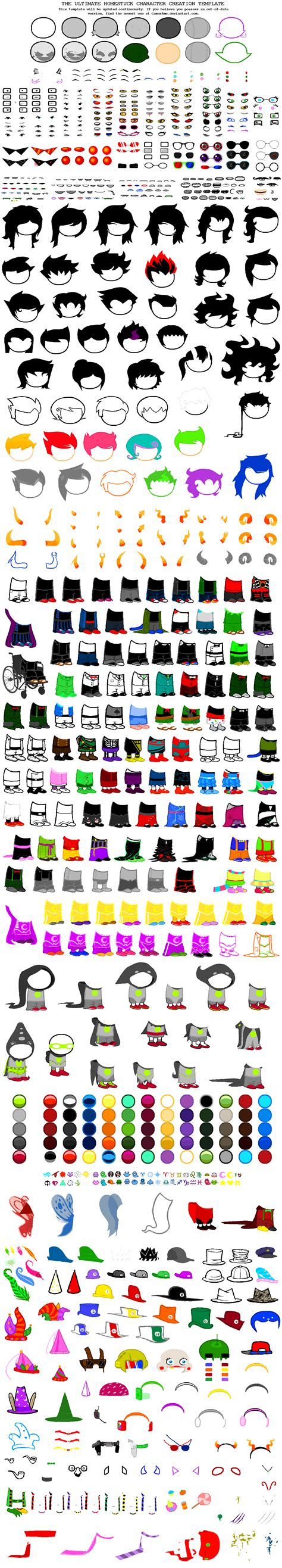 ultima character templates ultimate homestuck character creation template by games4me