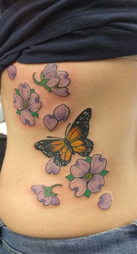 jade monkey tattoo dogwood and monarch butterfly by noel hare jade