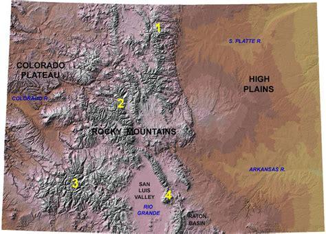 colorado mountains map es 331 767 southern rocky mountains