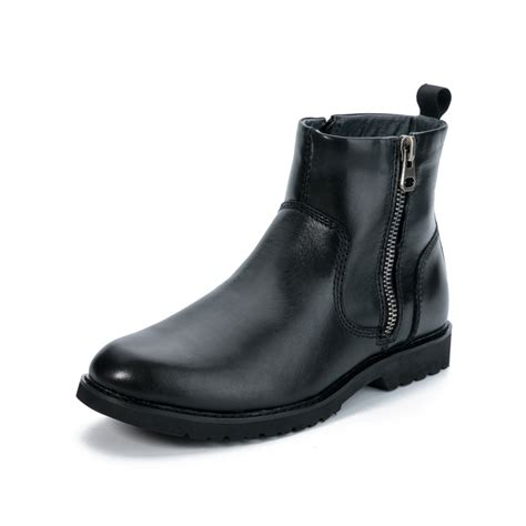 mens dress boots for winter dyanmi s winter classic grain cow genuine leather