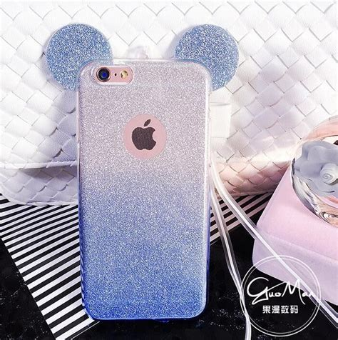 Iphone 5 5s 3d Silicone Disney Mickey Minnie Mouse Back Cover 3d minnie mickey mouse ears silicone glitter gradient