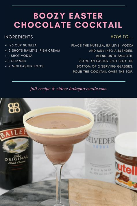 Summer Reading Milk Eggs Vodka by Boozy Easter Chocolate Cocktail Bake Play Smile