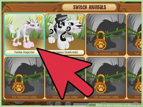 Animal Pots how to sew clothes on animal jam 13 steps with pictures