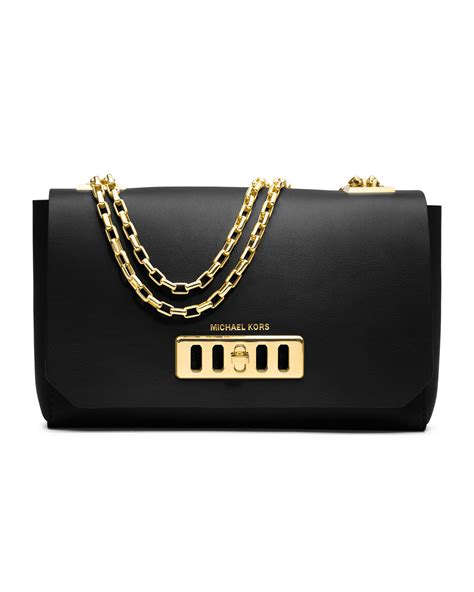 Michael Kors Shoulder Flap Bag michael kors shoulder flap bag in black lyst