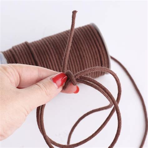 Macrame Rope - brown polyester macrame cord wire rope string