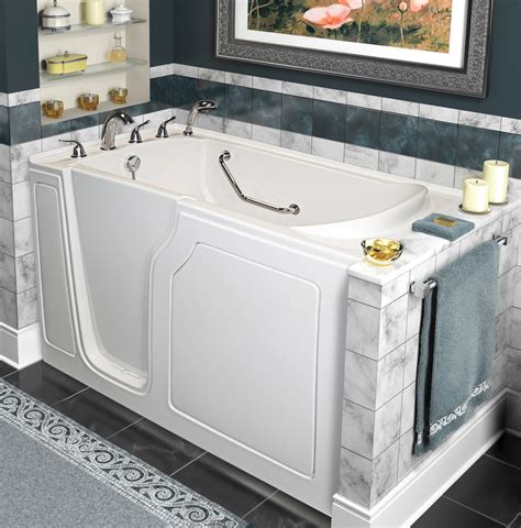 walk in bathtubs with jets a walk in tubs dignity 48 quot x 28 quot whirlpool and air jetted