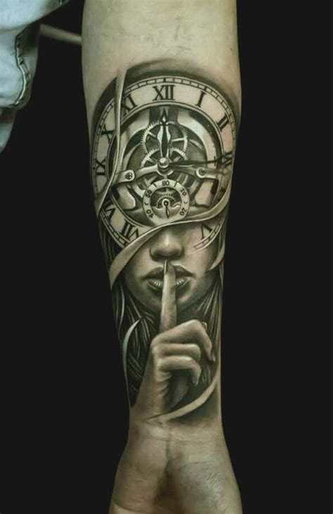 clock face tattoos designs 90 coolest forearm tattoos designs for and you