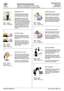 home exercise program feel better now series home exercises to treat neck