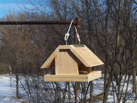 winter bird feeder roof covers platform