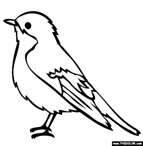 blue bird template bird coloring pages page 1
