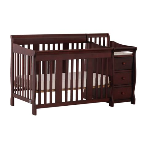 Best Buy Cribs by Stork Craft Portofino 4 In 1 Fixed Side Convertible Crib