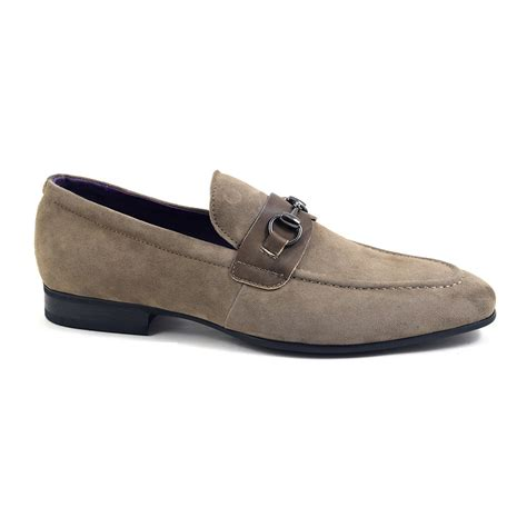 suede buckle loafers buy taupe suede buckle loafers for at gucinari