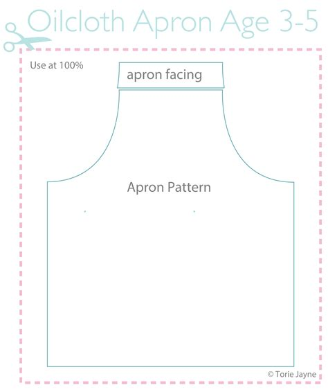 sewing oilcloth apron oilcloth apron pattern age 3 5 torie jayne