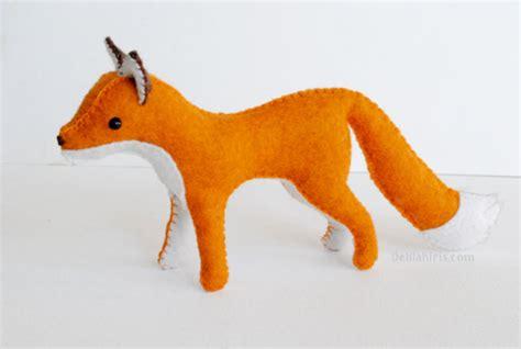 printable animal toys felt fox pattern woodland toy printable sewing by delilahiris