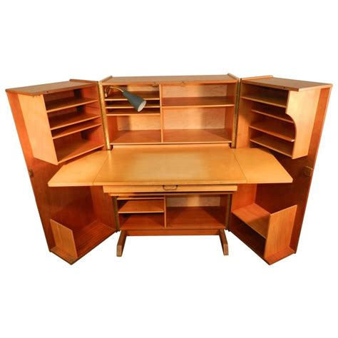 compact home office desk 1950 compact home office desk in mahogany and blond wood