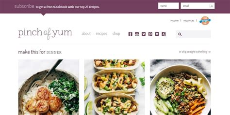 blogger food 19 exles of blogs that are loved by their visitors 2018