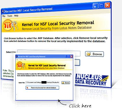 accessing lotus notes from home remove nsf local database security tool to erase nsf file