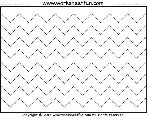free printable paper zig zag zig zag line tracing 7 worksheets free printable