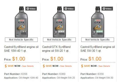 autozone synthetic motor autozone castrol gtx synthetic blend motor only