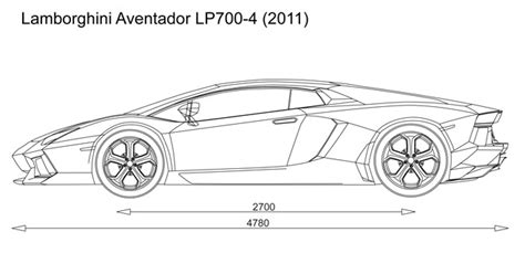 Lamborghini Aventador Blueprint Automotive Blueprints Cartype