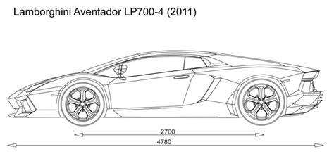 lamborghini aventador drawing outline automotive blueprints cartype
