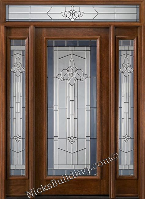 Exterior Door With Transom Mahogany Exterior Doors With Rectangular Transom