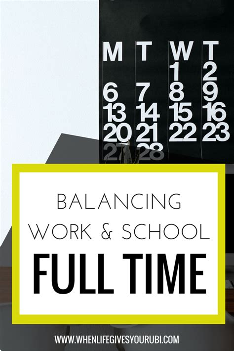 How To Balance Time Work School Mba by How To Work Time And Go To Grad School When
