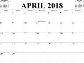 Calendar 2018 April April 2018 Calendar Free Premium Templates