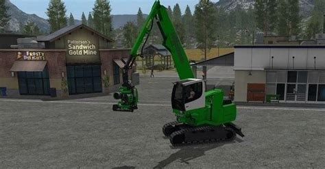 ls that turn on by touch sennebogen 718 v1 0 ls17 farming simulator 17 mod ls