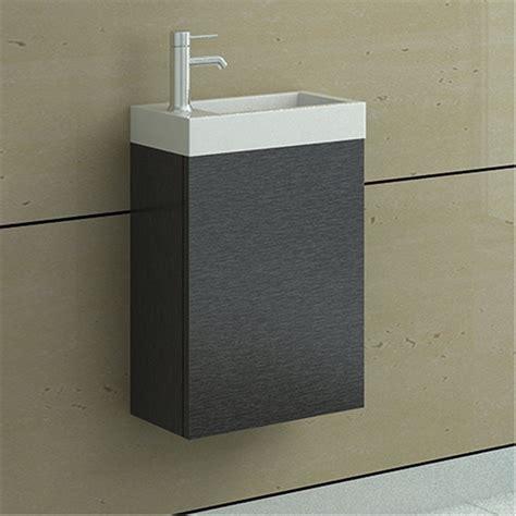 Badezimmer Unterschrank Dunkelbraun enki waschbecken mit h 228 ngendem unterschrank dunkelbraun