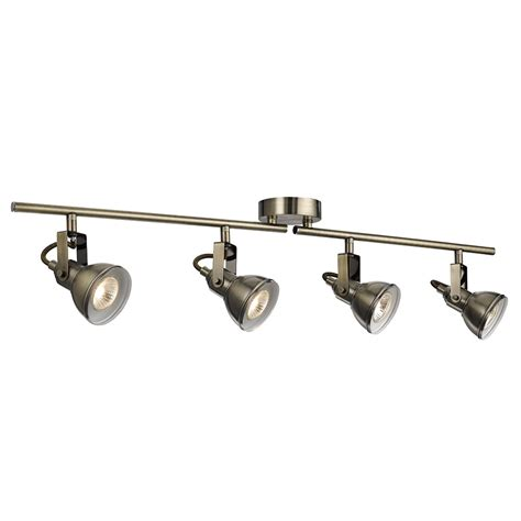 Spotlight Ceiling Bar by Searchlight Lighting Focus 4 Light Ceiling Spotlight Bar