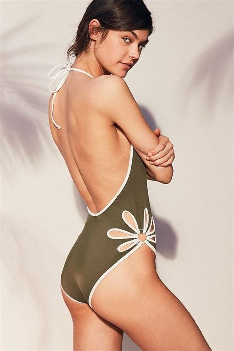 Floral Cutout Swimsuit out from floral cutout one swimsuit on