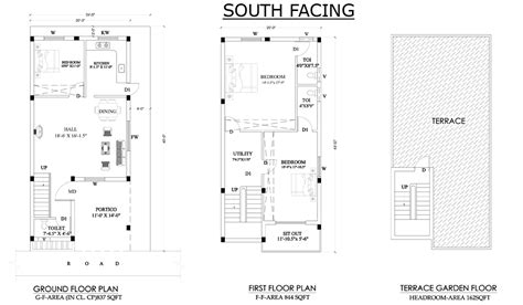 South Facing House Floor Plans Vastu House Plan For South Facing Plot