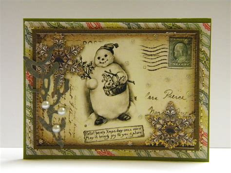 Vintage Handmade Cards - vintage snowman cards the handmade card