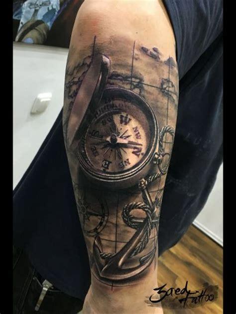 tattoo 3d mapping die besten 25 anker kompass tattoo ideen auf pinterest