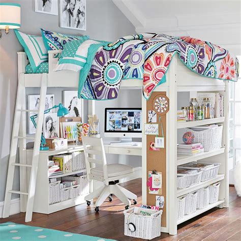 10 Best Loft Beds With Desk Designs Decoholic White Loft Bed Desk