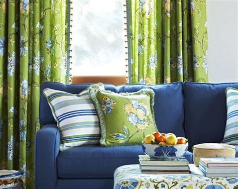 navy blue sofa lime green drapes home decor