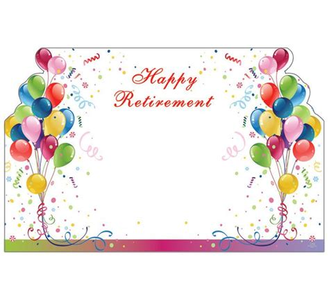 happy retirement cards templates 50 balloons happy retirement print florist blank