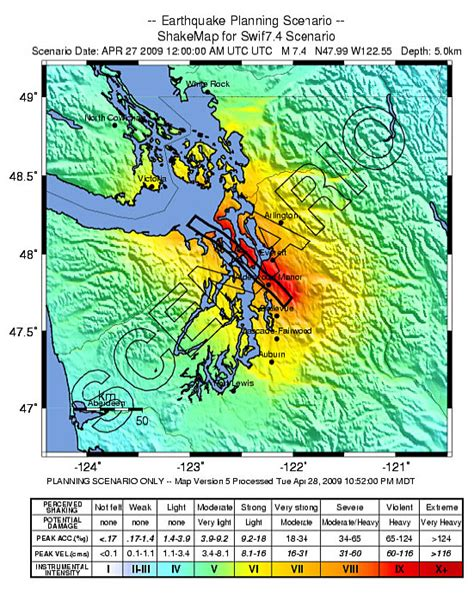 earthquake whidbey island