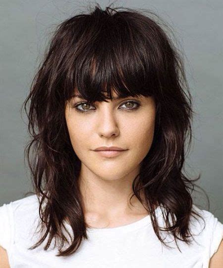 contemporary shoulderlength hairstyles 15 modern medium length haircuts with bangs layers for