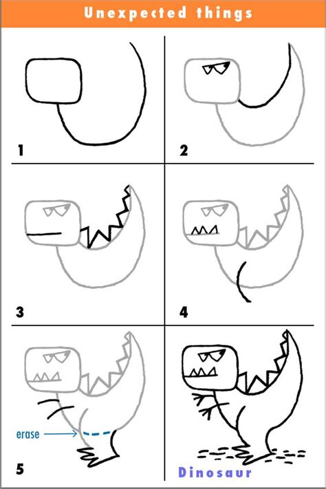 Draw A Dinosaur Coloring I And